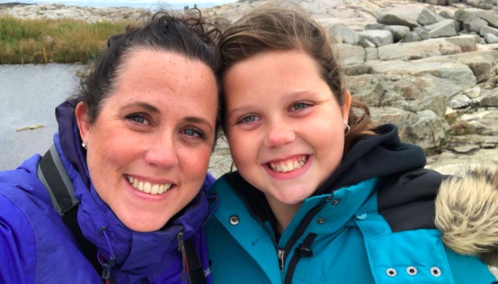 Helen and Lucy Early on their Peggy's Cove Adventure