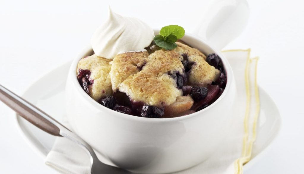 Seaside blueberry Grunt in a white bowl