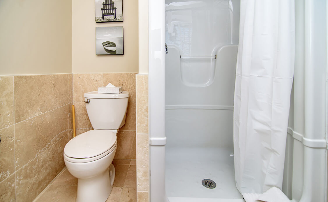 Rhubarb Guest Room Stand up shower